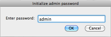 Mac Keylogger Initialize admin password