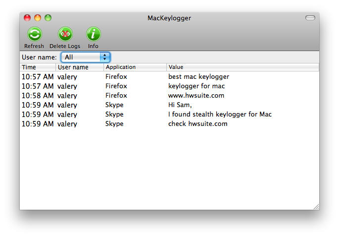 MacKeylogger Product - Keylogger Monitoring Software
